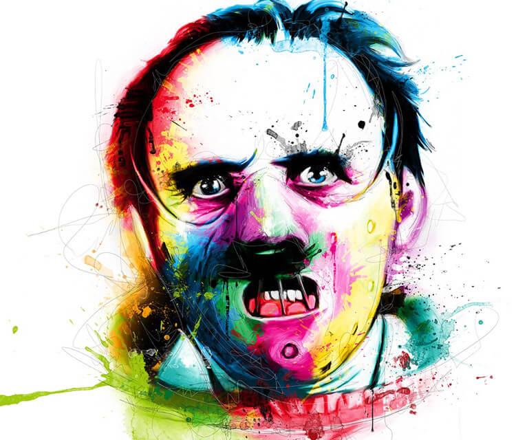 Hannibal Lecter mixedmedia by Patrice Murciano