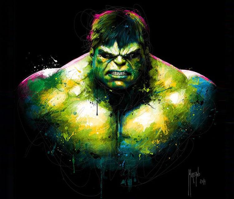 Hulk mixedmedia by Patrice Murciano