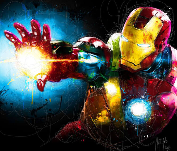Iron Man mixedmedia by Patrice Murciano