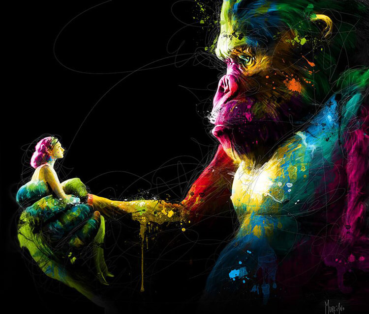 King kong, mixed media by Patrice Murciano