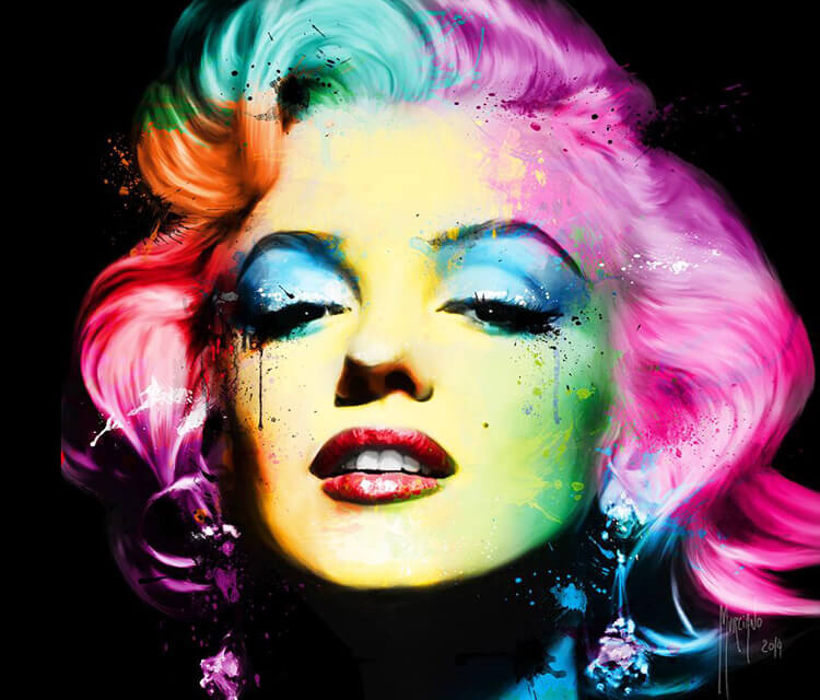 Marilyn Monroe, mixed media by Patrice Murciano