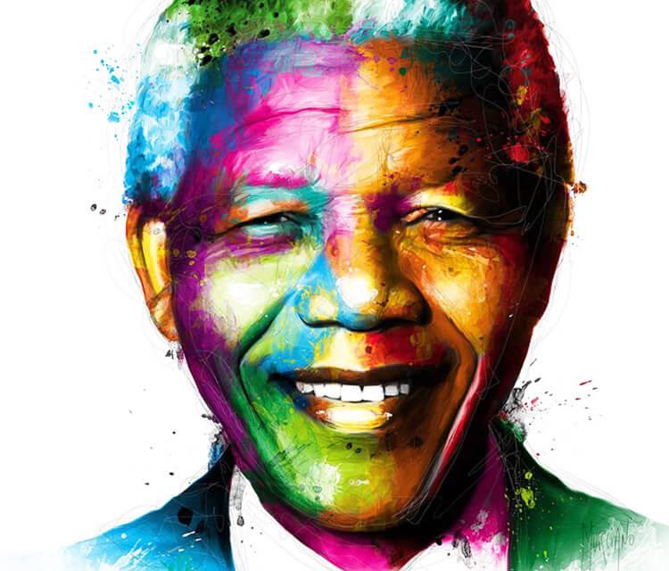 Nelson Mandela mixedmedia by Patrice Murciano