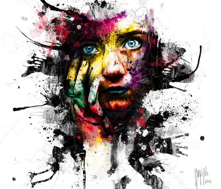 No War For Our Child, mixed media by Patrice Murciano
