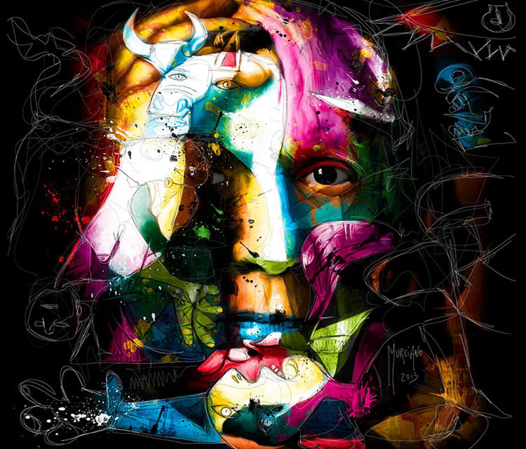 Portrait of Pablo Picasso, mixed by Patrice Murciano