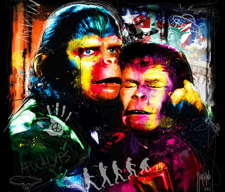 Planet Of The Apes, mixed media by Patrice Murciano