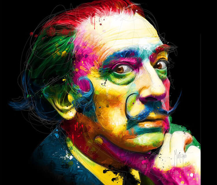 Salvador Dali, mixed media by Patrice Murciano