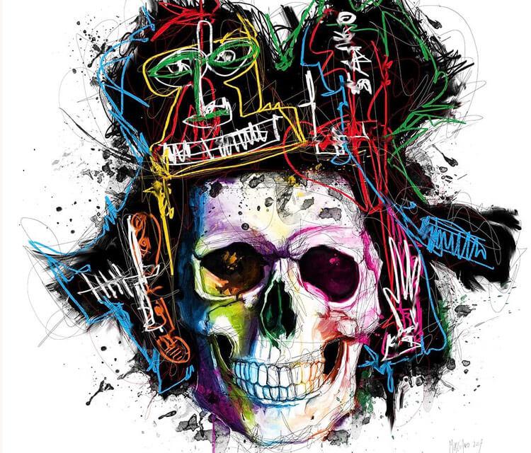 Skull mixedmedia by Patrice Murciano