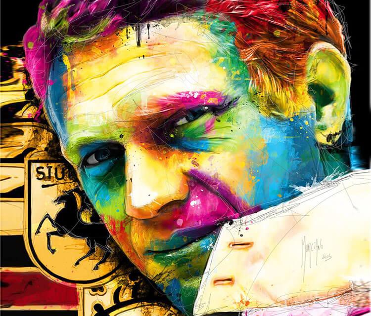 Steve McQueen mixedmedia by Patrice Murciano