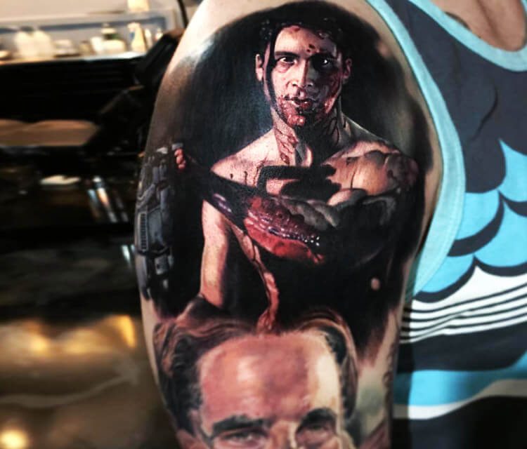 American Psycho tattoo by Paul Acker