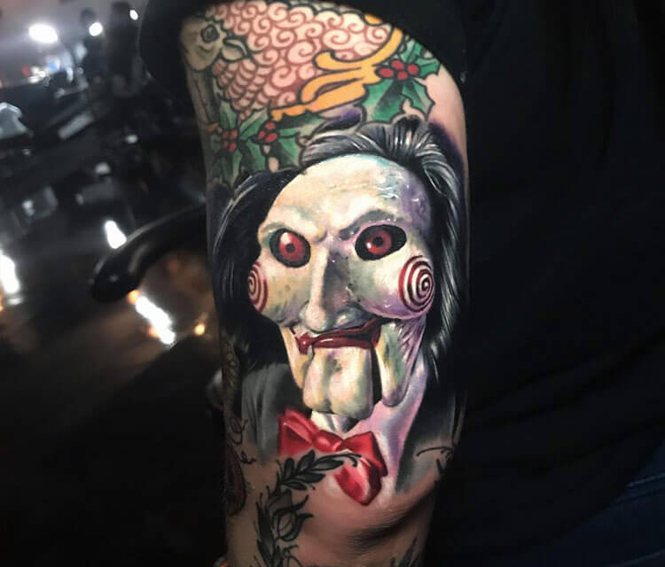 Billy the Puppet tattoo by Paul Acker