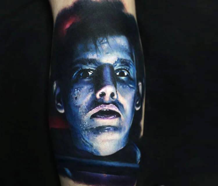 Portrait tattoo by Paul Acker