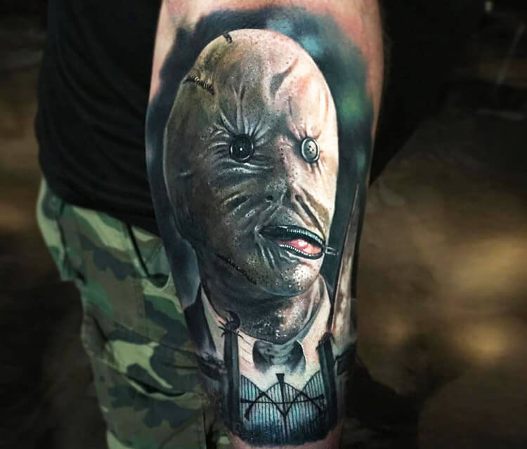 Dr. Decker tattoo by Paul Acker