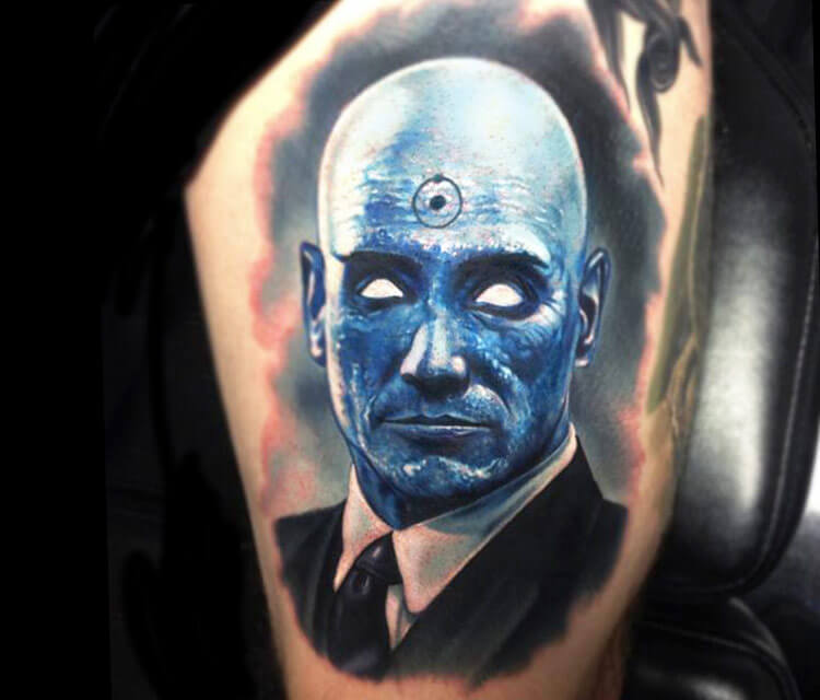 Tattoo Dr. Manhattan from Watchmen by Paul Acker