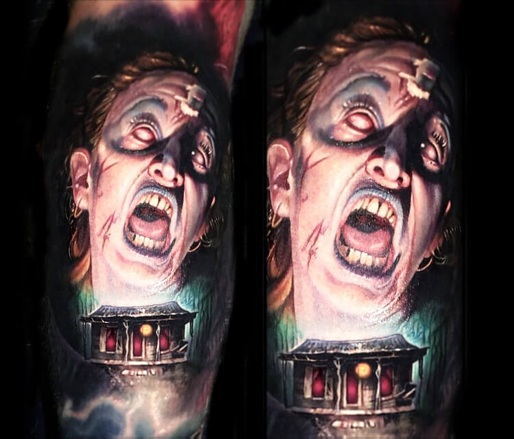 Evil Dead tattoo by Paul Acker