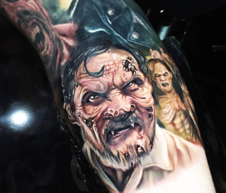From Dusk till Dawn tattoo by Paul Acker