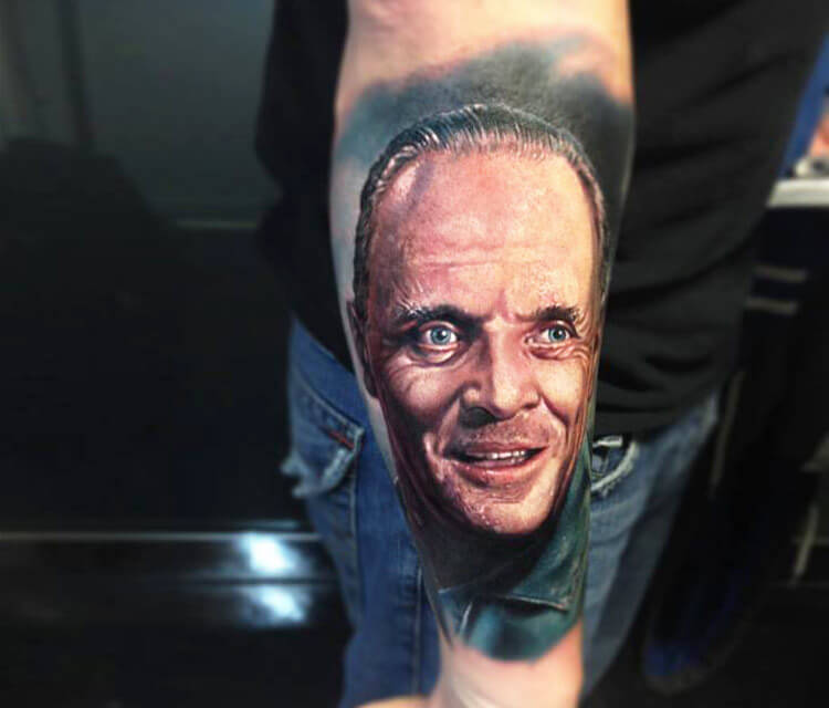Hanniba portrait tattoo by Paul Acker