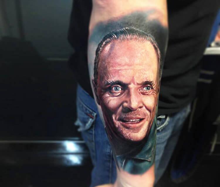 Hanniba portrait tattoo by Paul Acker