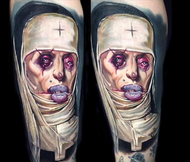 Hans Memling Portrait Tattoo By Paul Acker No 32