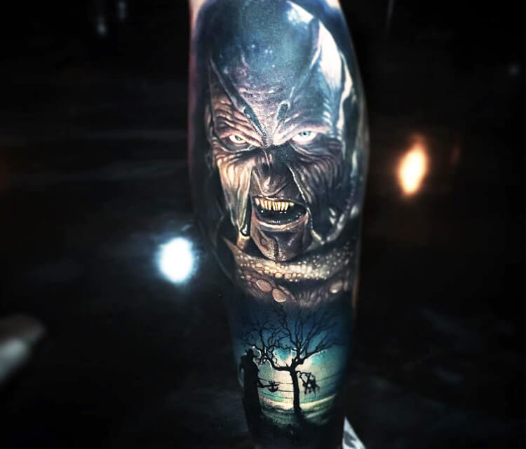 Jeepers Creepers tattoo by Paul Acker
