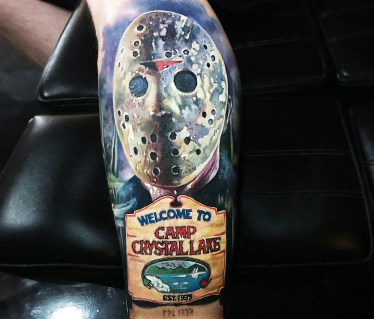 Jason Voorhees tattoo by Paul Acker