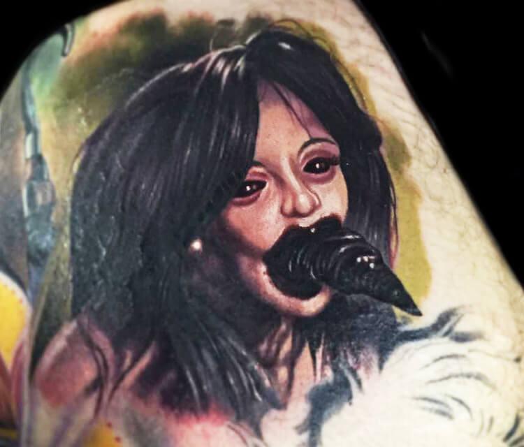 Leech Woman tattoo by Paul Acker