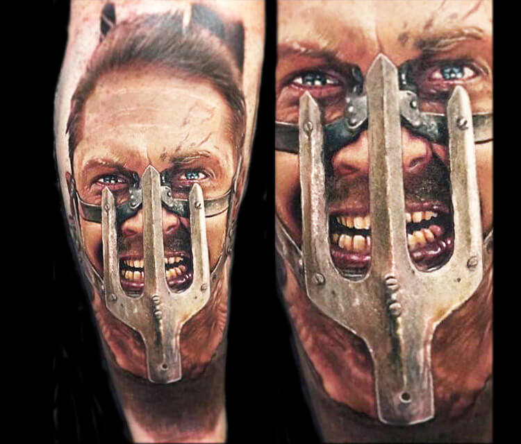 Mad Max from Fury Road tattoo by Paul Acker