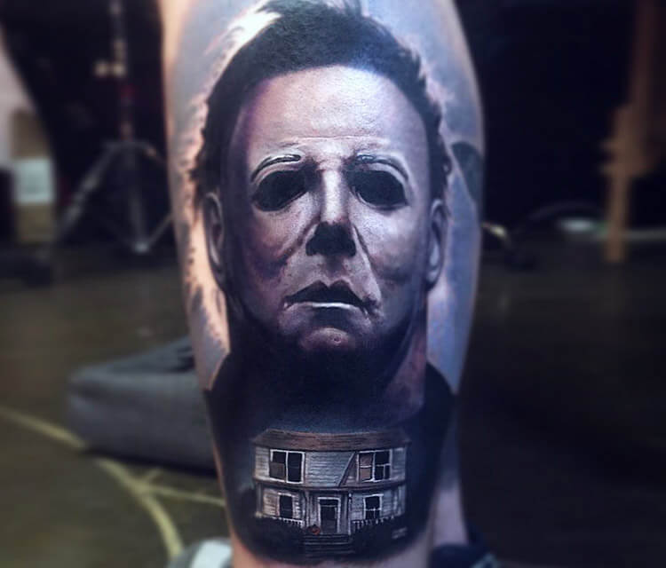 Michael Myers 2 tattoo by Paul Acker
