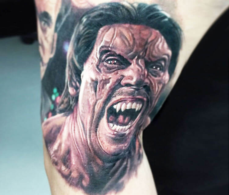 Mike From Dusk Till Dawn tattoo by Paul Acker