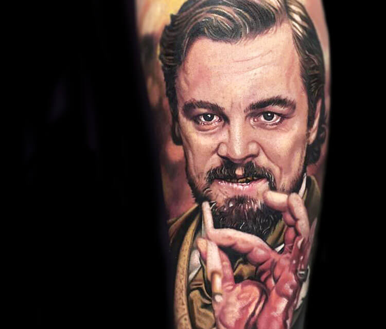 Leonardo di Caprio portrait from Django Unchained by Paul Acker