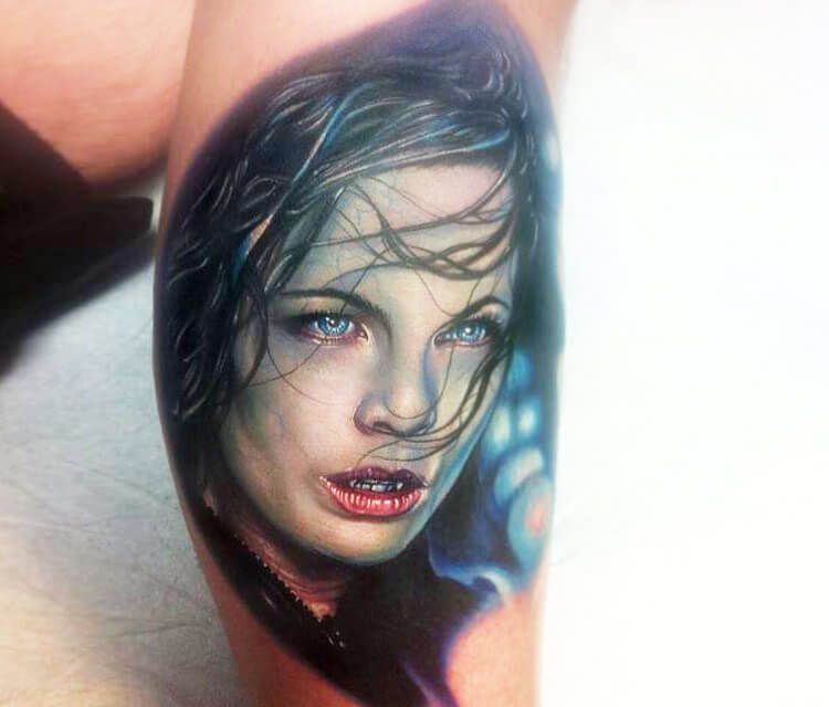 Tattoo Selene from Underworld by Paul Acker