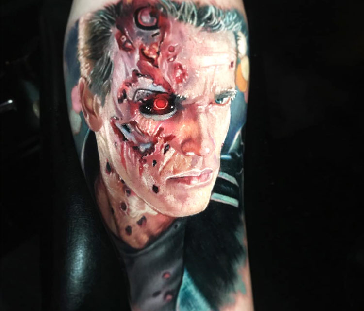 Terminator T 800 tattoo by Paul Acker