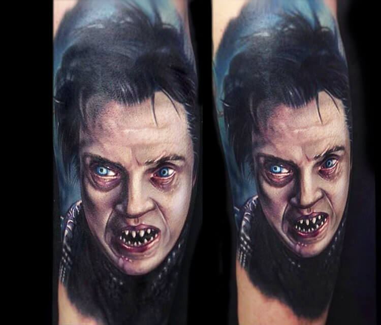 Horror vampire tattoo by Paul Acker