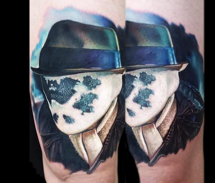 Rorschach from Watchmen tattoo by Paul Acker