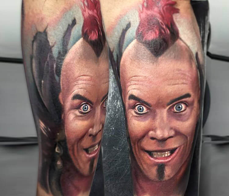 Wez from The Mad Max tattoo by Paul Acker