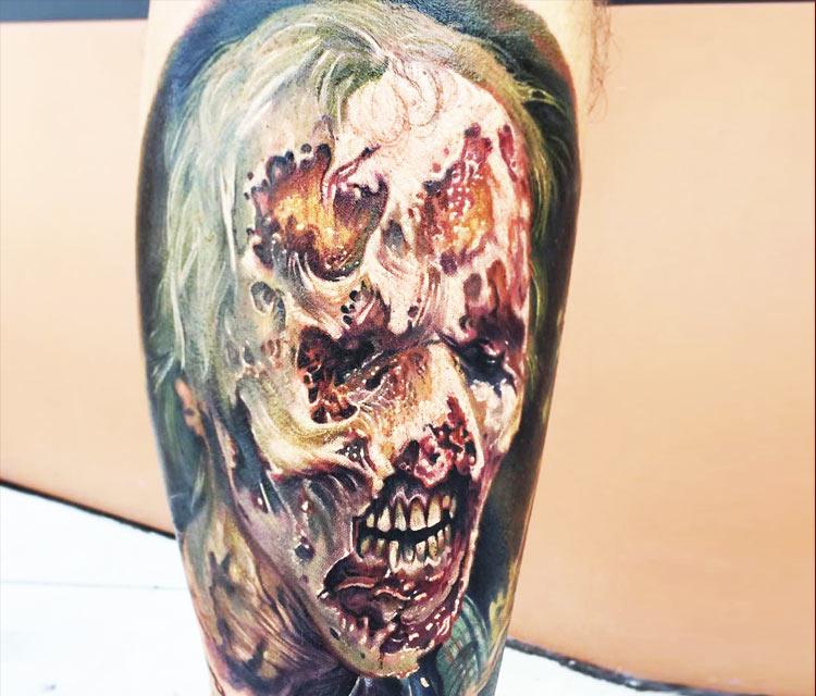 Zombie tattoo by Paul Acker