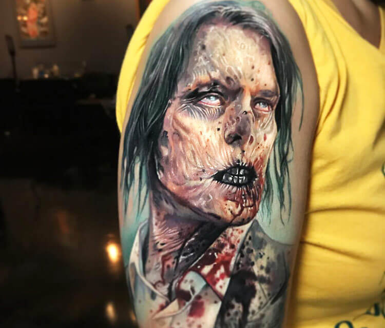 Zombie Gentleman tattoo by Paul Acker