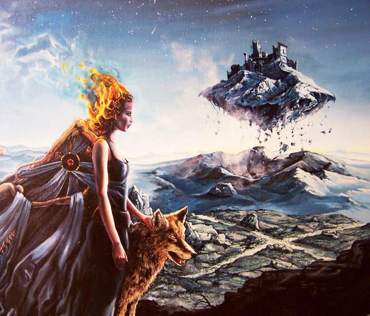 Dead dream painting by Peter Zuffa Bodliak