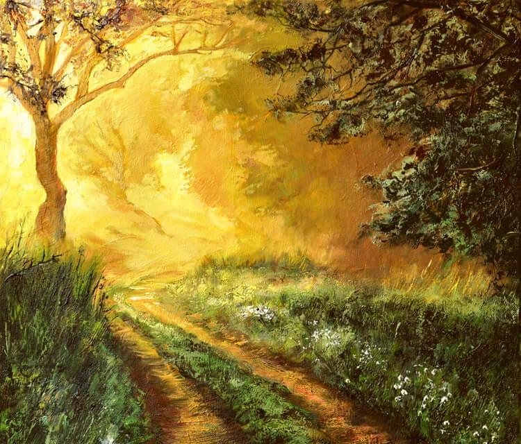 Morning Walk acryl painting by Peter Zuffa Bodliak