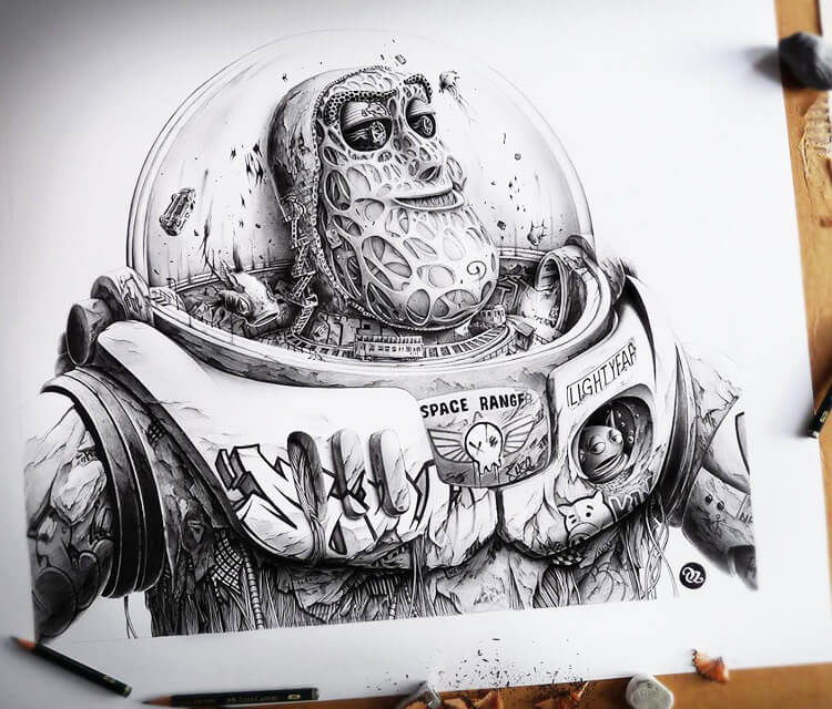 Buzz sketch drawing by Pez Art