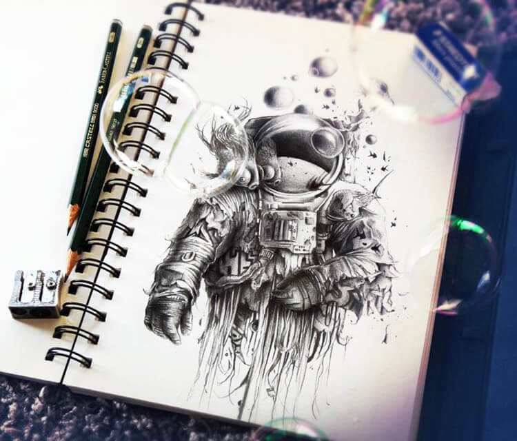 Bubbaldrin sketch by Pez Art
