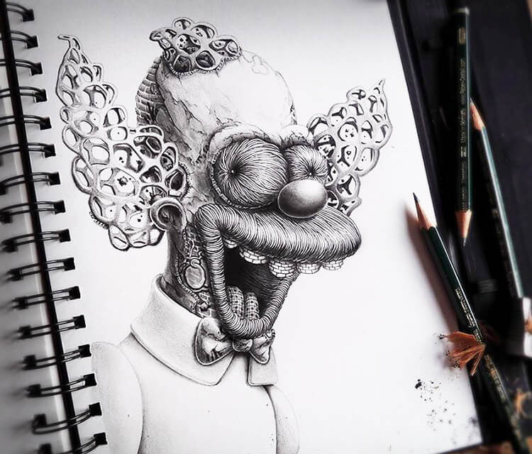 Krusty the Clown sketch by Pez