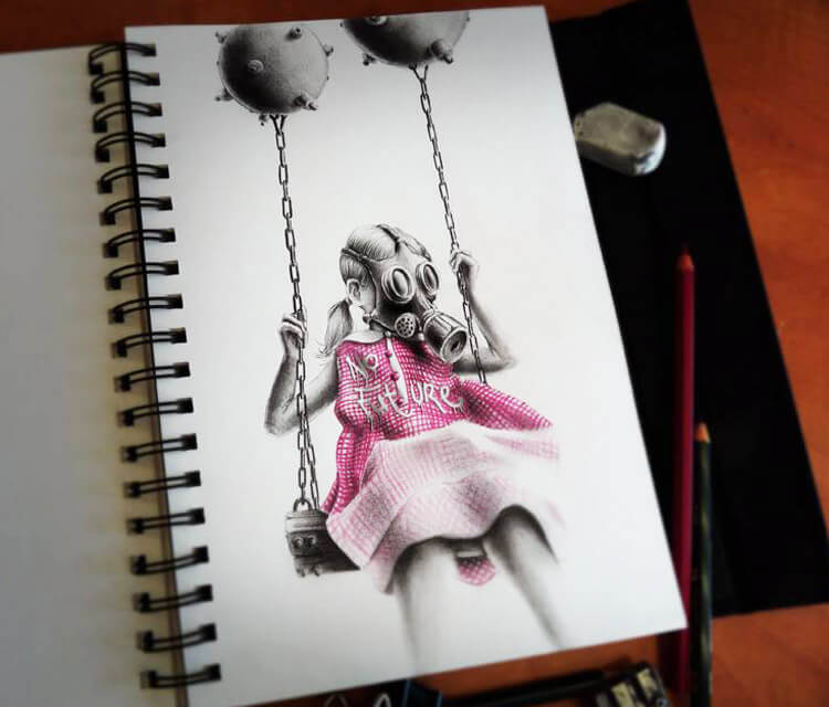 No Future sketch drawing by Pez Art
