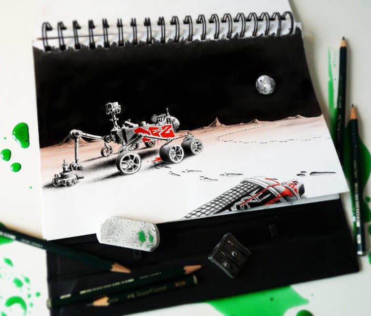 Mars PEZ Attack sketch by Pez Art
