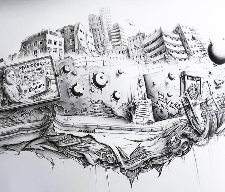 SOAP sketch drawing by Pez Art