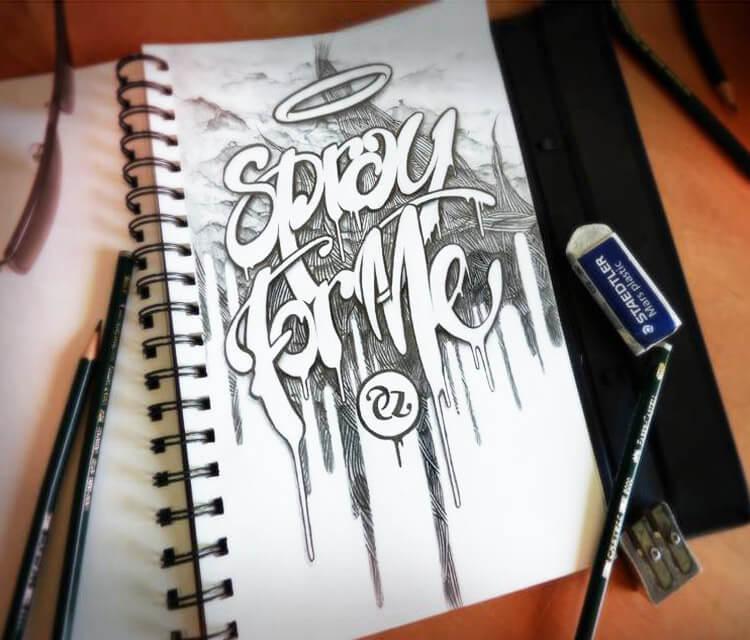 Spray for me sketch by Pez Art