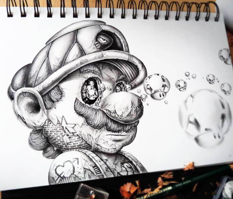 Super Mario sketch by Pez Art