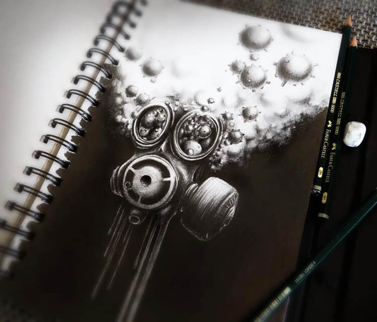 Mask drawing by Pez Art