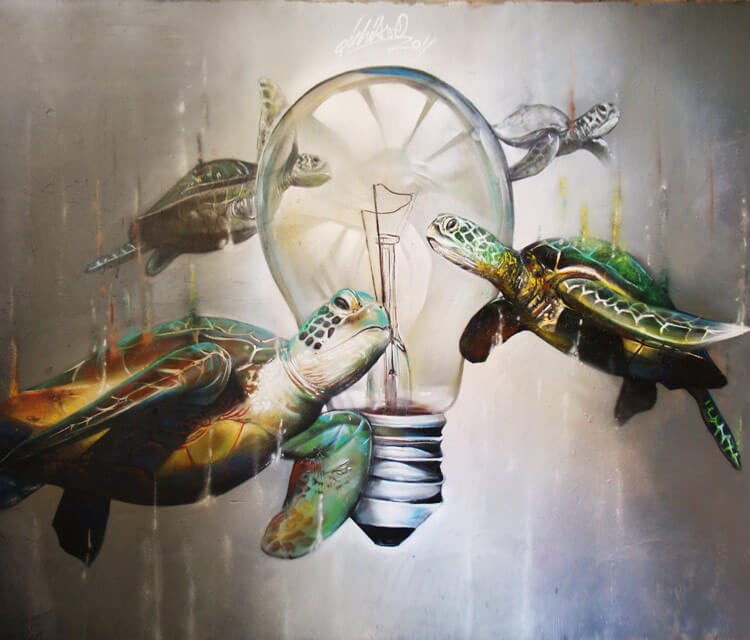 Light and turtle by Pichi and Avo