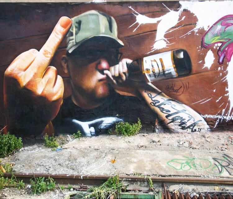 Streetart mural by Pichi and Avo