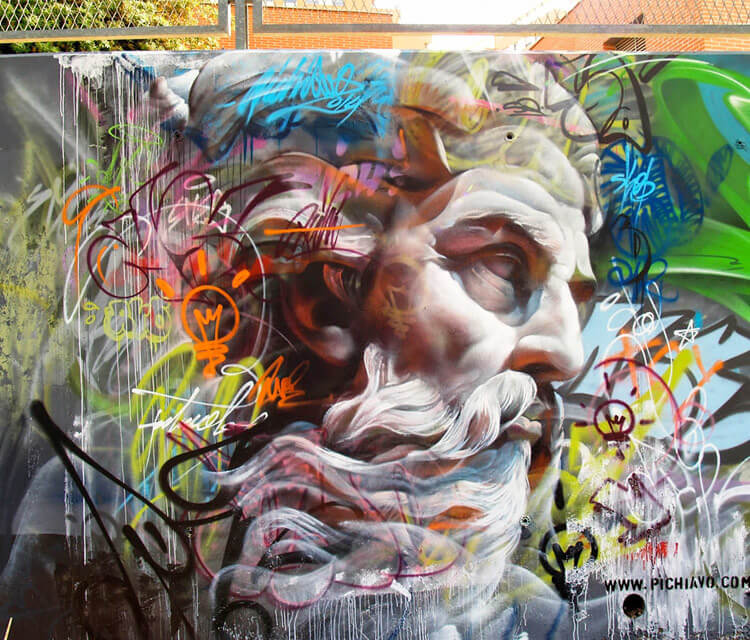 Mural streetart by Pichi and Avo